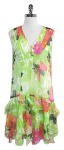 Nanette Lepore short dress Floral Print Silk Sleeveless on Tradesy
