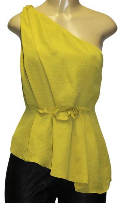 Rachel Roy Top mustard yellow