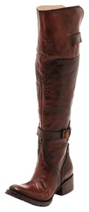 FreeBird By Steven Quebec Tall Leather Over-the-knee Size 6.5 Cognac Boots