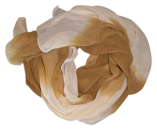 Other Two-Tone Sheer Lightweight Crinkled Boho Scarf Shawl Wrap