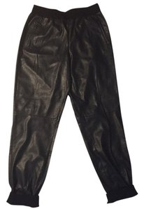 BCBGMAXAZRIA Joggers Bcbg Relaxed Relaxed Pants Black, leather