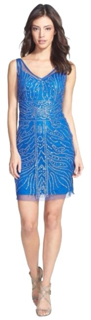 Preload https://item4.tradesy.com/images/adrianna-papell-blue-above-knee-cocktail-dress-size-4-s-4735768-0-0.jpg?width=400&height=650