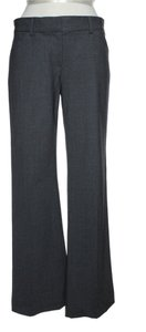 Theory Stretch Wool Dress Flare Pants Gray