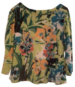 Westbound Size 16 Floral Top Multi