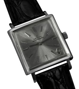 Zenith 1960's Zenith JFK John F. Kennedy Vintage (Respirator) Automatic Mens Watch - Stainless Steel