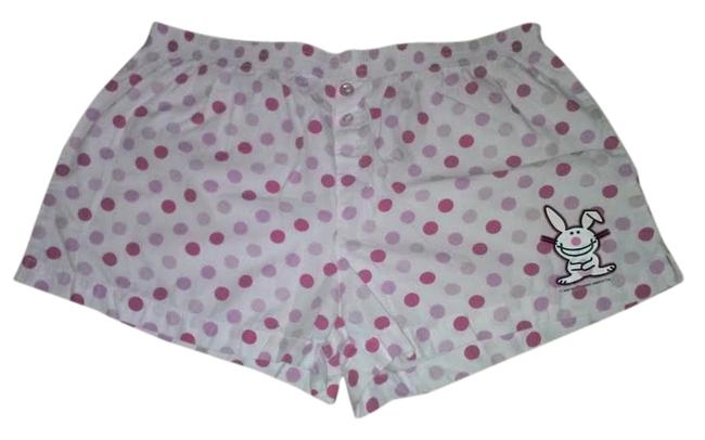It's Happy Bunny Mini/Short Shorts White and Pink
