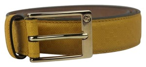 Gucci UPDATED Yellow Gucci Diamante Leather Belt GGTL200S