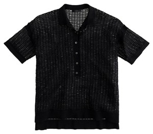 J.Crew Polo Collection Top Black