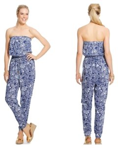 Lilly Pulitzer Jumpsuit Blue White Strapless Dress