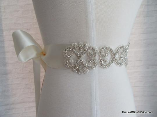 The Last Minute Bride Ivory Beaded Belt Style: Lbb-monte Carlo - Iv Sashes