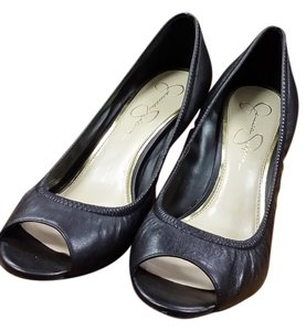 Jessica Simpson Black Wedges
