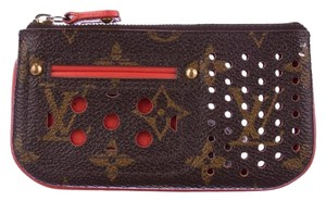 Louis Vuitton Monogram and Orange Perforated Key Pouch