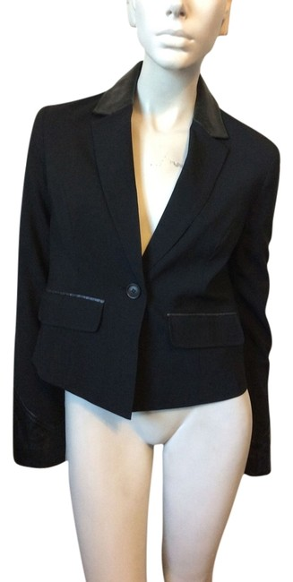 Preload https://item2.tradesy.com/images/elizabeth-and-james-black-leather-collar-blazer-size-8-m-4739701-0-0.jpg?width=400&height=650