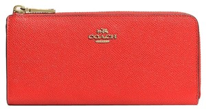 Coach Coach Embossed Textured Leather Slim Zip Wallet