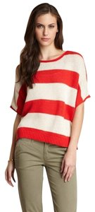 Anthropologie Striped Oversized And Ivory Casual Relax Fit Sweater