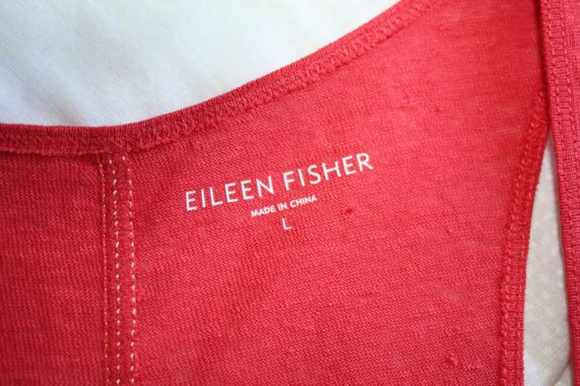 Eileen Fisher Racerback Linen Pink Top ROSE