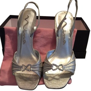Nina Silver Metallic Formal