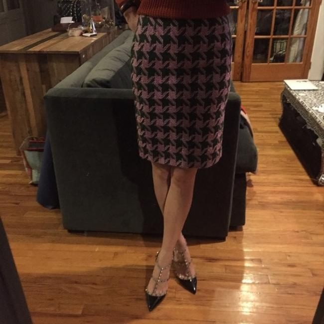 INC International Concepts Houndstooth Pencil Work Skirt Pink and green