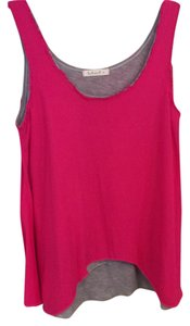 Testament Top Hot pink/grey