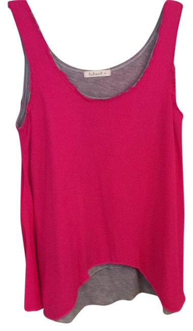 Preload https://item5.tradesy.com/images/testament-hot-pinkgrey-double-layer-tank-topcami-size-6-s-4740634-0-0.jpg?width=400&height=650