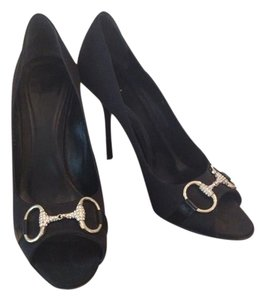 Gucci Black with Silver/rhinestones Pumps