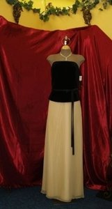 Jordan Fashions Gold & Black Jordan Black Velvet/gold Size: 10 #820 Dress