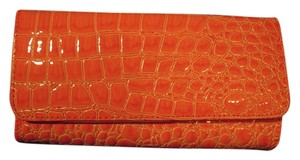 Natalie Dancewear Faux croccodile orange wallet.