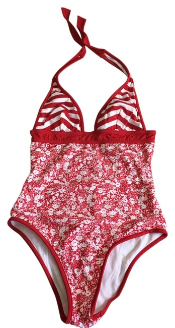 Item - Red White Swimsuit Small One-piece Bathing Suit Size 4 (S)