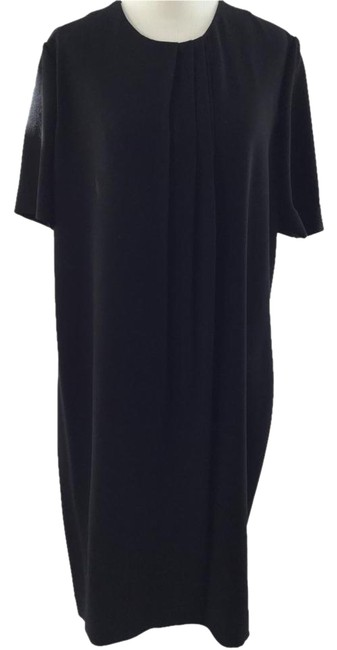 Preload https://item1.tradesy.com/images/burberry-black-satin-back-crepe-detail-knee-length-workoffice-dress-size-12-l-4741375-0-3.jpg?width=400&height=650