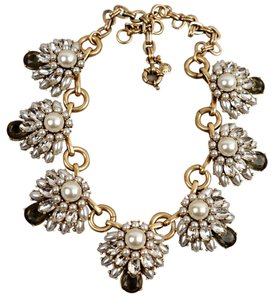 J.Crew Pearl & Crystal Necklace