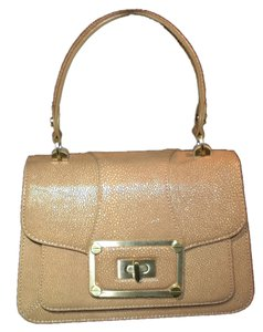 Alexis Hudson Italian Leather Satchel in tan