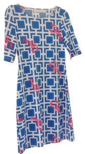 Tracy Negoshian short dress Blue white pink on Tradesy