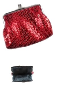 Red Sequins Coin Purse