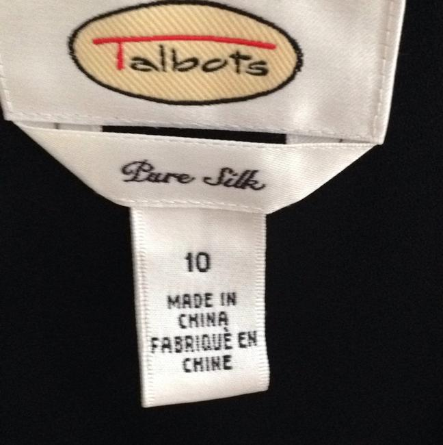 Talbots size 10 Black pure silk dress long wear ones Dress