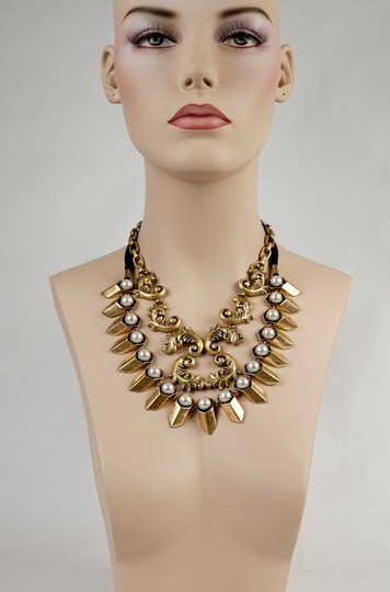 J.Crew Gold Scroolwork necklace