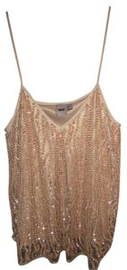 ASOS Sequin Workoutfit Date Night Top Nude