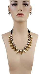 J.Crew Gold Stacked Pearl Necklace
