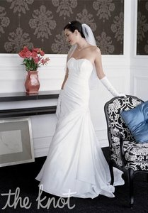 David's Bridal White Traditional Wedding Dress Size 4 (S)