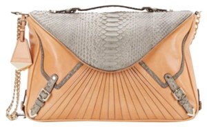 Rebecca Minkoff Collection Satchel in Peach/Gray