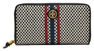 Tory Burch Tory Burch Jane Continental Woven Leather Wallet