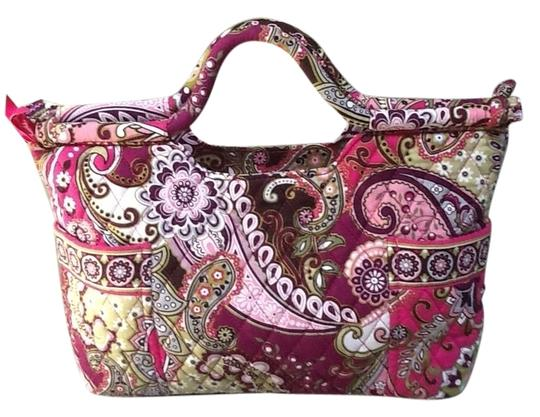 Vera Bradley Top Closure Gabby Very Berry Paisley Clutch