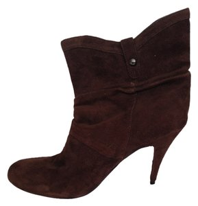Guess Suede Chic Cool Bootie chocolate brown Boots