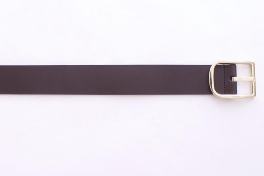 Gucci GUCCI BROWN LEATHER BELT GOLD TONE BUCKLE