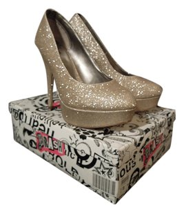 Brash Gold Glitter Platforms