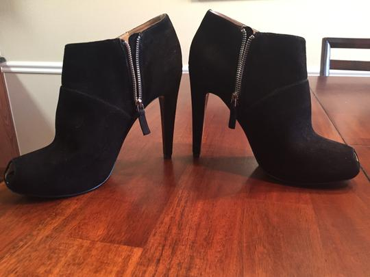 Nine West Ankle Peep Toe Suede Black Boots
