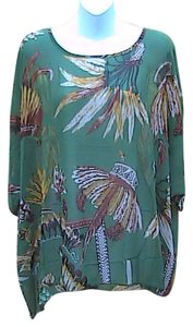 Other Brand New W/tag Summer Chiffon Top Feathers Design