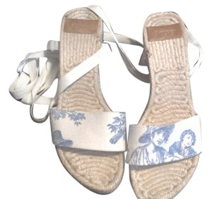 Hype toile creme Sandals