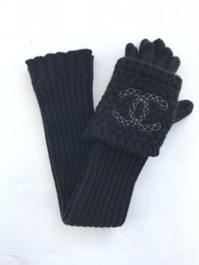 Chanel Chanel Cashmere Long Gloves