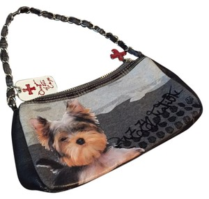 FUZZY NATION Satchel in Yorkie Dog