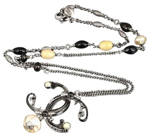 Chanel Chanel 2011 Byzance Art Nouveau CC Mother of Pearl Swarovski Crystal Filigree Beaded Belle Epoque Necklace.